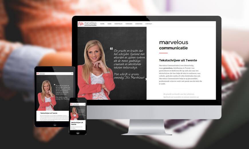 Webdesign Twente Tekstschrijver Marvelous Communicatie