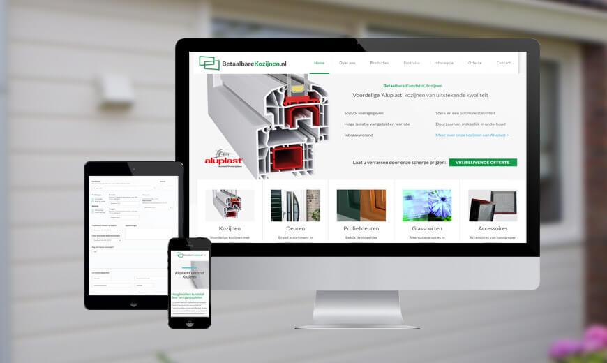 Webdesign voor betaalbare kozijnen
